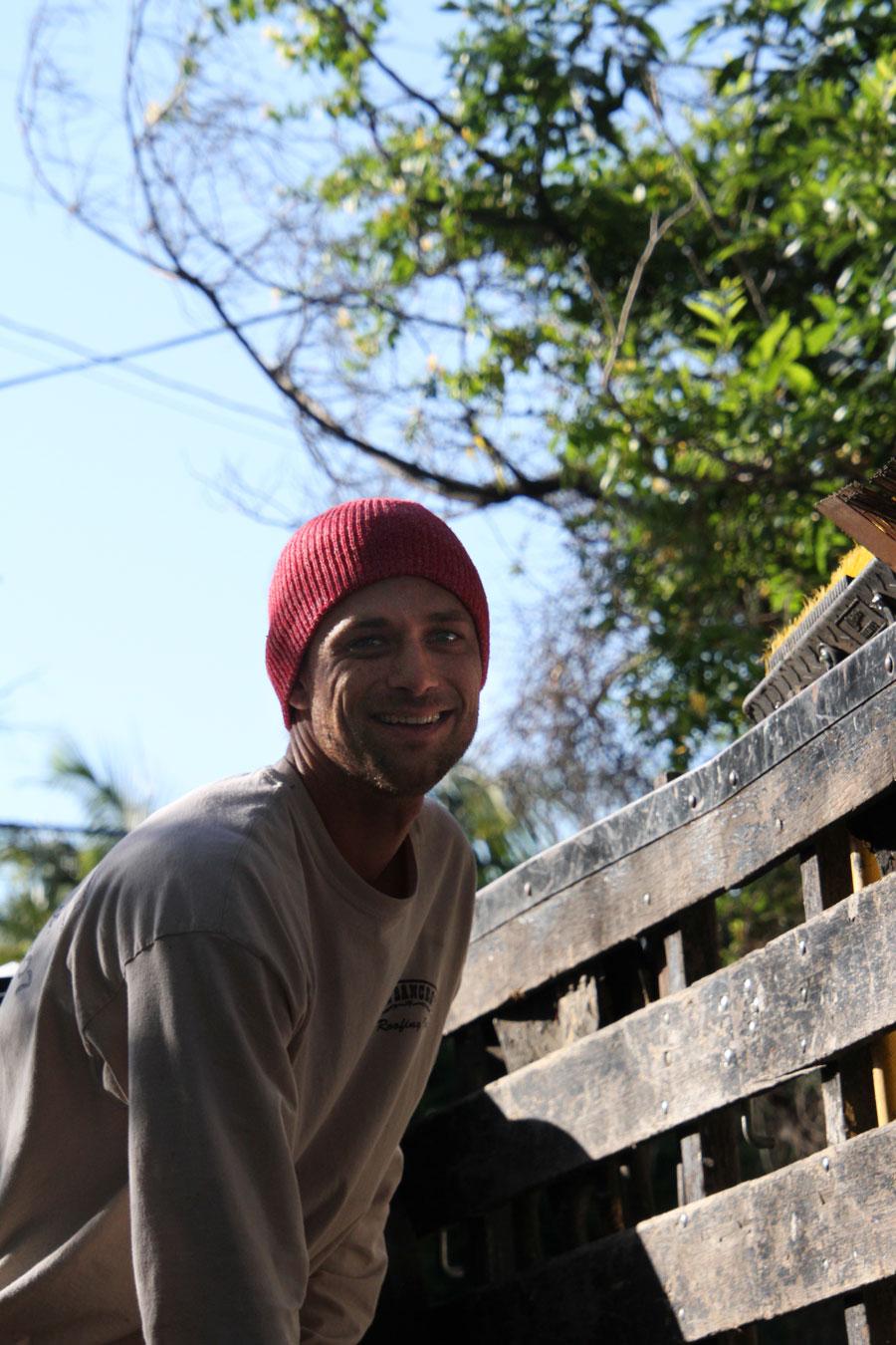 Darren Bancroft on job site - Paul Bancroft Roofing - Los Angeles Roofing